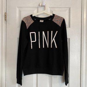 PINK Victoria's Secret Black Logo Sweatshirt
